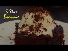 5 Star brownie is a very quick an easy to make brownie by HungryBoo whcih Brownie Desserts, Brownie Cake, Brownie Recipes, Easy Cake Recipes, How To Make Chocolate, Chocolate Brownies, Delicious Desserts, Star, Youtube
