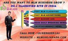MLM online ads is a Top & free mlm ads posting classifieds sites, mlm classifieds. You can post free classifieds & grow your business with mlm online ads Best Digital Marketing Company, Marketing Software, Business Marketing, Internet Network, Best Ads, Cryptocurrency News, News Website, India, Simple