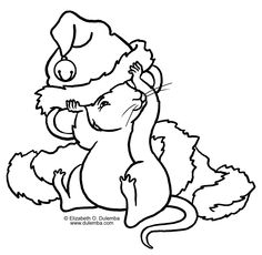Christmas mouse coloring pages - Google Search