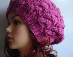 Popular items for knit cable hat on Etsy