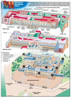 UK ROYALTY: Buckingham Palace opens its doors infographic Futuristic Architecture, Art And Architecture, Buckingham Palace Floor Plan, Abandoned Houses, Abandoned Ohio, Abandoned Castles, Abandoned Mansions, Abandoned Places, Blue Drawings