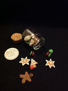 Assorted 1/12 scale polymer clay christmas goodies