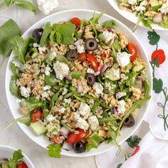 Greek Whole Grain Salad with Lemon Salmon and Feta | Chicken of the Sea