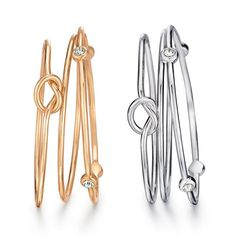A set of three adorable, stackable bracelets featuring knots and clear rhinestones for an elegant, simple charm. Regularly $19.99, shop Avon Jewelry online at http://eseagren.avonrepresentative.com