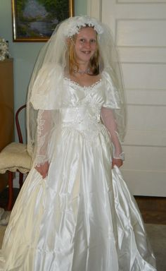 Vintage 1980's Wedding Gown  Size 68 by SweetNancyVintage on Etsy, $65.00