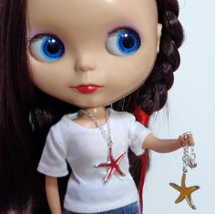 StarFish / Sea Star Necklace for your Mermaid BlytheStar by BlytheStar on Etsy