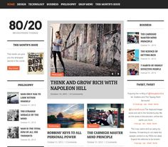 80/20 - WordPress Magazine Theme [$45] #theme #wordpress #website