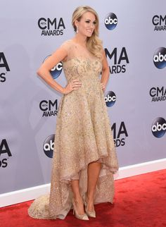 Carrie Underwood attends the 48th annual CMA Awards at the Bridgestone Arena on November 5, 2014 in Nashville, Tennessee.