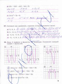 Страница 5 - Алгебра 9 класс рабочая тетрадь Минаева, Рослова. Часть 2