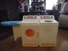 Vintage Little Tikes laundry - with ironing board! I still have my one of this so Lucky...Michelle Martin