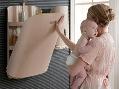 Wall-Mounted Changing Table by Bo Ekstr�m | Inhabitots