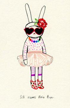fifi lapin wears evie bee... fun!