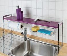 Kitchen Sink Shelf, Love The Paper Towel Holder
