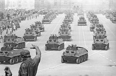 Soviet BTR-60 armoured personnel carriers on Red Square.