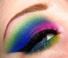 #color #Bitterstarlite #Makeup #colorful #makeup #spring #bright #summer #rainbow