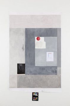 Nick Oberthaler Untitled (is painting a construction), 2011 Ink, wax, pastel, gouache and photocopy on paper 165 x 110 cm (64.96 x 43.31 in)