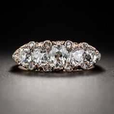1.60 Carat Victorian Five-Stone Diamond Ring