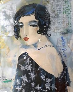 """George Hamilton """"Glance""""  @ Freed Gallery George Hamilton, Texture Art, Collage Art, Surrealism, Disney Characters, Fictional Characters, Portraits, Paintings, Fantasy"""