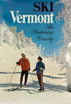 DP Vintage Posters - Ski Vermont The Beckoning Country Original Travel Poster
