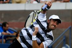 Steve Johnson (USA) was defeated by Richard Gasquet (FRA)[13] in the third round of the 2012 US Open - Philip Hall/USTA