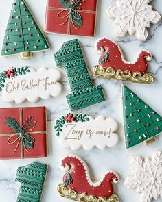 Christmas Biscuits, Christmas Sugar Cookies, Easter Cookies, Christmas Treat Bags, Christmas Brunch, Christmas Baking, Fancy Cookies, Cute Cookies, Royal Icing Cookies