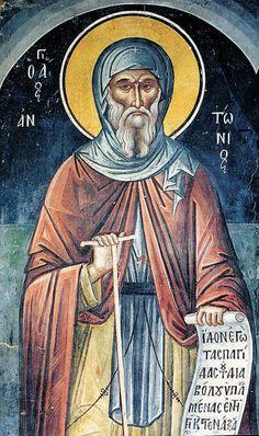 Orthodox Icons, Mythology Art, Byzantine Art, Renaissance Art, Art, Saint Anthony, Art Icon, Angel Art, Sacred Art