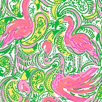 pink & green flamingo pattern - Shop Lilly Prints & Fabric Patterns - Lilly Pulitzer