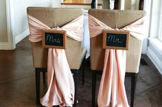 Mr and Mrs. Chair signs and bows