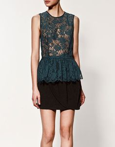 Lace Top with Frills - All eyes on Peplum