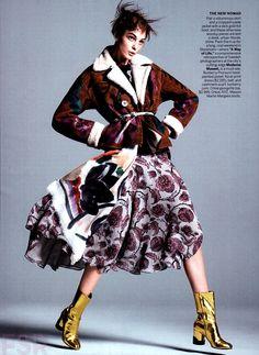 Vogue US Agosto 2014   Caroline Trentini por David Sims [Editorial]
