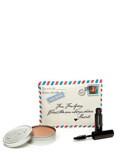 Love this packaging- Cargo Cosmetics Mini Voyages make up kit