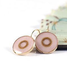 Light pink earrings rose pink lightweight by @SigalitAlcalai, $46.00 #lightpink #gifts