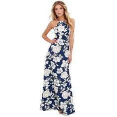 (14.97$)  Know more - http://aih6j.worlditems.win/all/product.php?id=G2983BL-M - New Sexy Women Maxi Dress Halter Neck Floral Print Sleeveless Summer Beach Holiday Long Slip Dress Blue