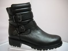 Karston from France. Ankle boot with laceup front and side zip. Padding design at top of boot. Available in Black. Lace Up, Ankle, Zip, Heels, Boots, Collection, Black, Heel, Crotch Boots