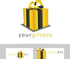yellow box logo vector
