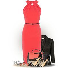 Coral dress by kiki-bi on Polyvore featuring moda, Coast, Precis Petite, ASOS and Judith Jack