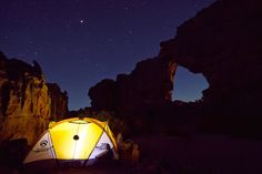Camping under the stars next the Wolfberg Arch, Cederberg, South Africa