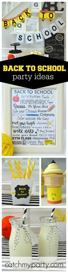 How about surprising your kids with a back at school party! The pencil ice creams are just so cool! See more party ideas at CatchMyParty.com