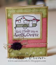 Another cute idea for the Camper Crazy set. This is going to be one of my favorites!