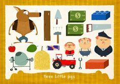 12 Famous Fairy Tales in Pieces - Three Little Pigs by Simone Massoni