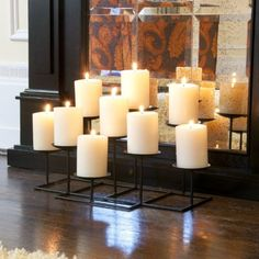 This Metal Candelabra Features Nine Platforms to Hold Candles and a Sturdy Base, the Perfect Accent for Your Home Decor. Great for a Table Centerpiece, Fireplace, or Entryway.the Candelabra Is Constructed of Layered Rows with the Platforms At Varied Heights for Added Dimension ** Read more reviews of the product by visiting the link on the image.