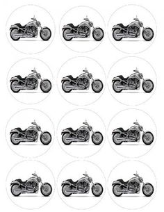 """Single Source Party Supplies - 2.5"""" Harley Davidson Motorcycle Cupcake Edible Icing Image Toppers #1 Single Source Party Supplies http://www.amazon.com/dp/B00A9M4UNW/ref=cm_sw_r_pi_dp_.HbQvb0JXY9D8"""