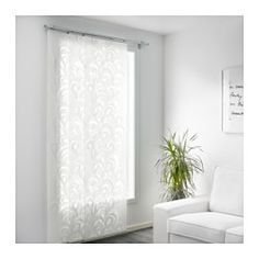 IKEA - VÅRSKÖNA, Panel curtain, A panel curtain is ideal to use in a layered window solution, to divide rooms or to cover open storage solutions.You can cut the panel curtain to the desired length without hemming it.