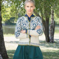 Knitting Machine Patterns, Needlework, Bomber Jacket, Fashion, Tops, Threading, Embroidery, Moda, Dressmaking
