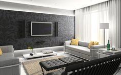 Idee per arredare il soggiorno in bianco e nero n.19