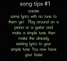 Song writing tips