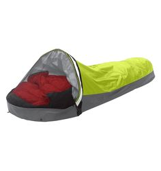 OR Alpine Bivy. Expensive and heavy (2lb), but full function. REI minimalist bag alternative, but very mixed reviews.