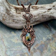Labradorite Copper Necklace named by MandatoJewelryDesign on Etsy