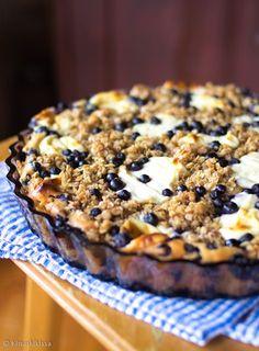 Murun mustikkapiiras - Blueberry pie with cream cheese