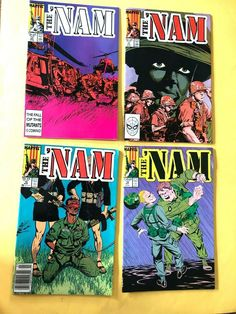 THE NAM Marvel Comic VOl 1 NO 2, 3, 4, 8 Jan - July 1987 Very Good No Flaws Marvel Comics, Flaws, Comic Books, Handmade, Art, Art Background, Hand Made, Kunst, Cartoons